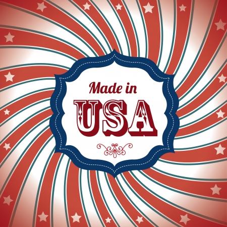 сделанный: Сделано в США за флаг фон векторные иллюстрации Иллюстрация