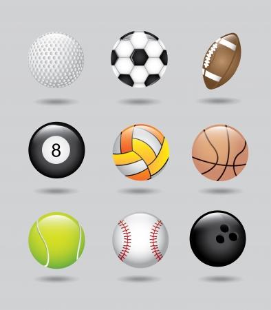sport boules sur fond gris illustration vectorielle