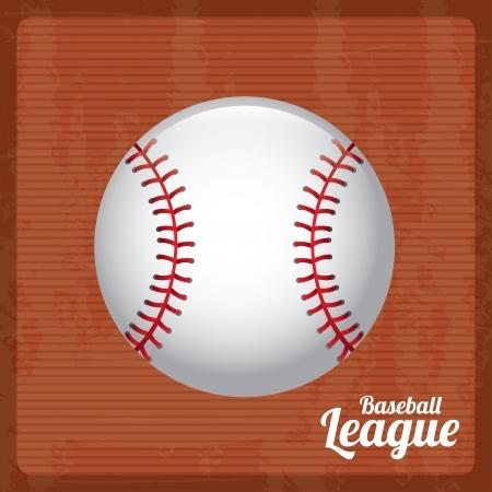 ligue de base-ball sur fond vintage illustration vectorielle