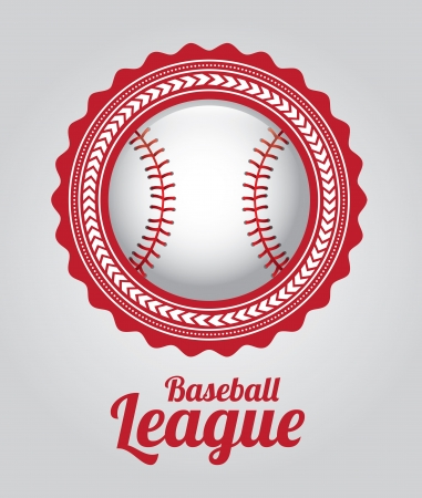 la ligue de base-ball sur fond gris illustration vectorielle