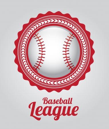 la ligue de base-ball sur fond gris illustration vectorielle