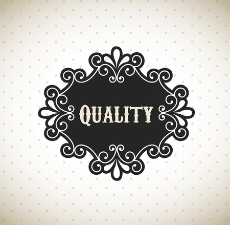 quality frame over vintage background vector illustration Vector