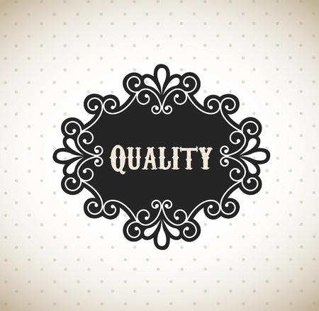 accredit: quality frame over vintage background vector illustration