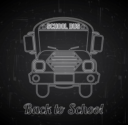 back to school over blackboard background vector illustration