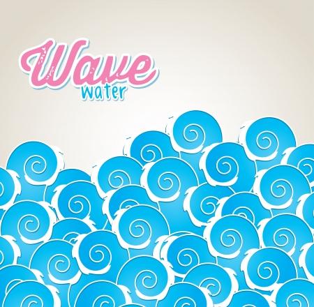onda de agua sobre fondo gris ilustración vectorial