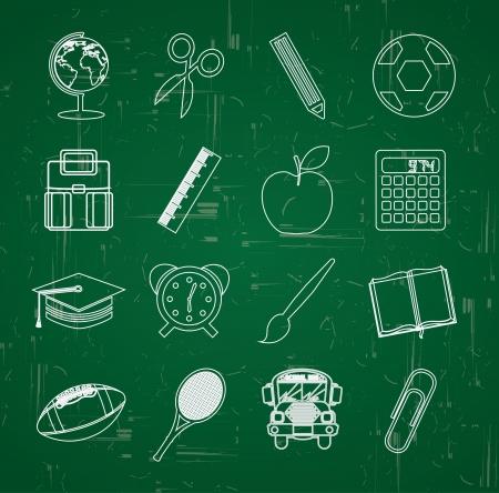 worl: back to school over blackboard background vector illustration