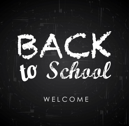 back to school over black background vector illustration Stock Vector - 20554027
