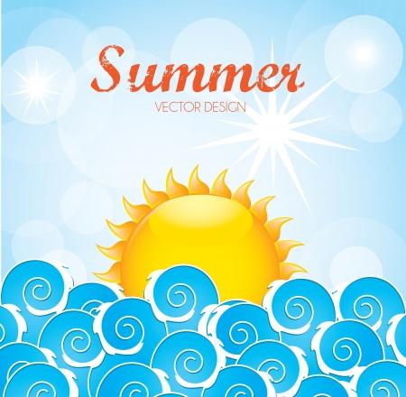 clouding: summer design over sky background vector illustration
