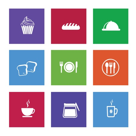 coffee hour: restaurant icons over white background vector illustration