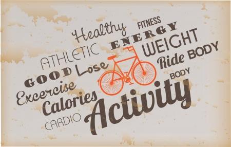 activity design over vintage background vector illustration