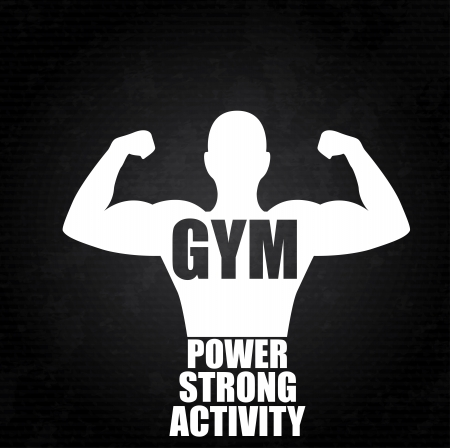 gym design over black background vector illustration  Vector