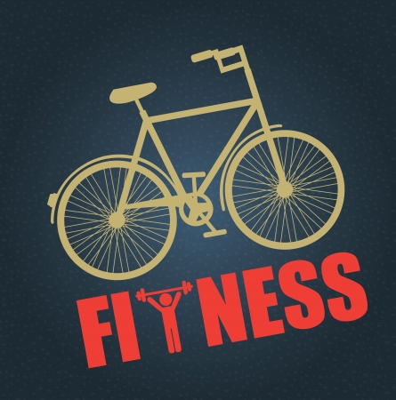 fitness design over blue background Vector