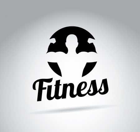 fitness center: fitness design over gray background