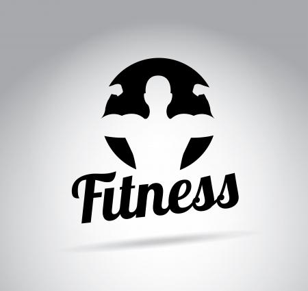 fitness ontwerp over grijze achtergrond Vector Illustratie