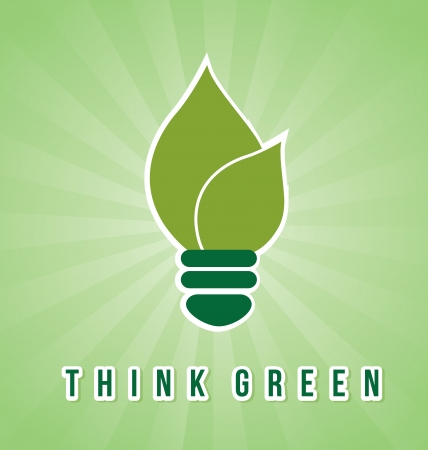 think green over green background  Vector