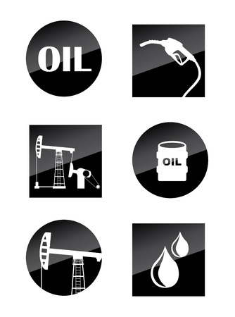 oil icons over white background Stock Vector - 20701977