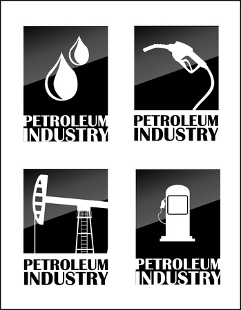 petroleum industry over white background Stock Vector - 20701978