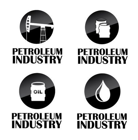 petroleum industry over white background Stock Vector - 20701979