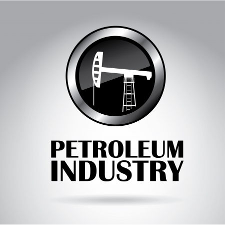 automotive industry: petroleum industry over gray background  Illustration