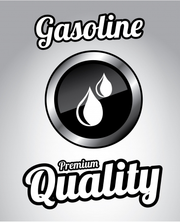 gasoline premium quality over gray background  Vector