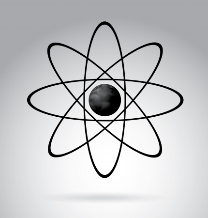 ionizing: atom design over gray background