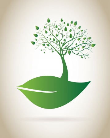 natural design over green background  Stock Vector - 20685874