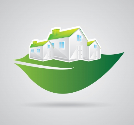 eco construction over gray background  Vector