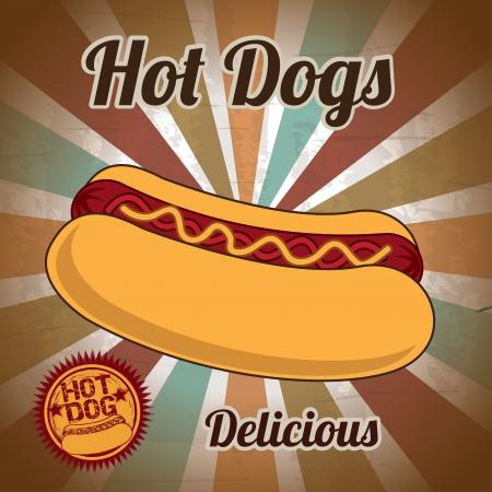 mayonnaise: hot dog over grunge background