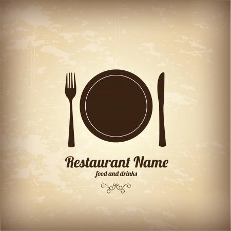 menu design over vintage background  Vector
