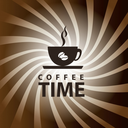 time over: coffee time over grunge background