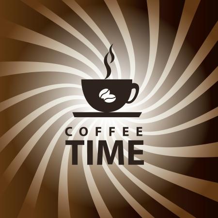 cafe colombiano: la hora del café sobre fondo grunge