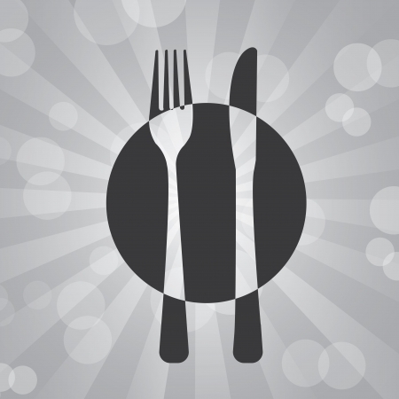 Menu icons over gray background  Vector