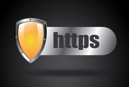 https security over white background  Vector