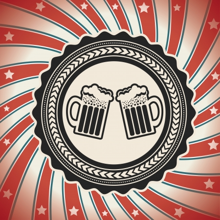 Beer label over grunge background  Stock Vector - 20702291