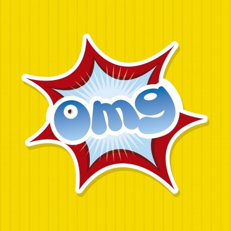 chatter: omg comics icon over yellow background