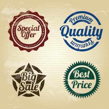 Juntas de compras sobre fondo de la vendimia Foto de archivo - 20702401