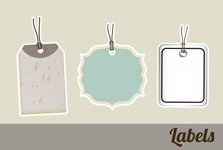 shopping labels over gray background  Vector