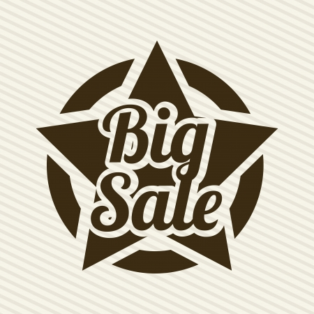 big sale over lineal background  Vector