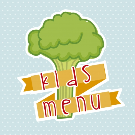 kids menu over dotted background  Vector