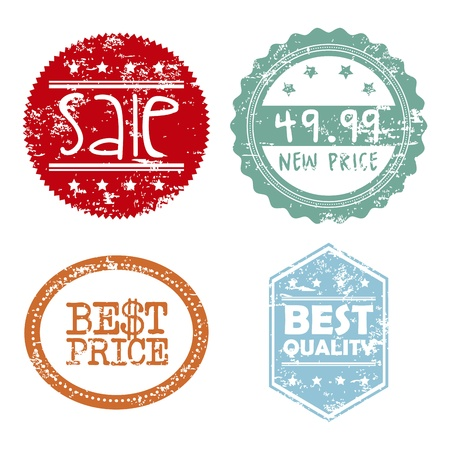 shopping seals over white background  Stock Vector - 20702445