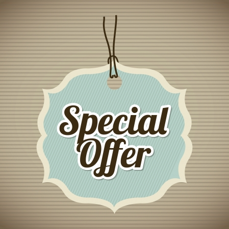 special offer over vintage background  Ilustração