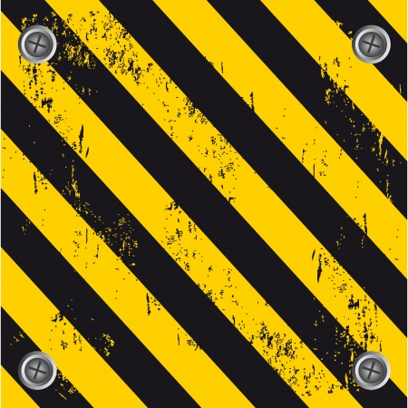 caution wall over black and yellow background  Vector