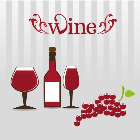wine design over gray background  Vector