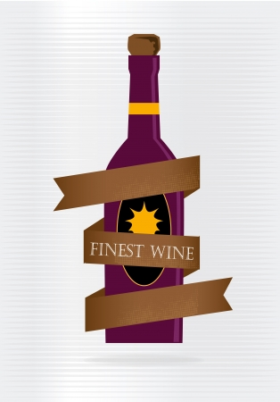 finest: finest wine over gray background