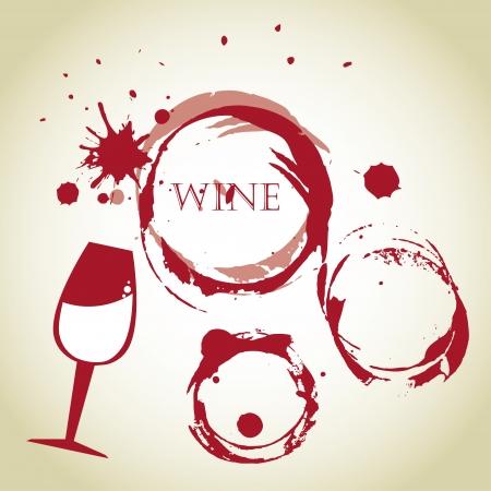 burbujas de vino más de fondo de la vendimia