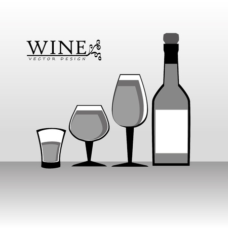 wine design over gray background  Vector