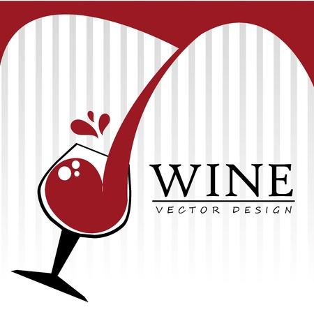 diseño del vino a través de líneas de fondo blanco
