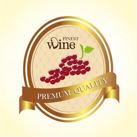 finest: migliore etichetta di vino su sfondo vintage Vettoriali