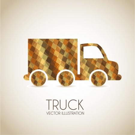 diseño de camión sobre fondo beige