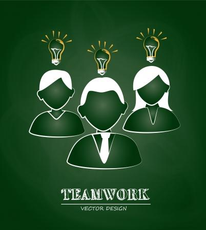greenboard: teamwork design  over greenboard background